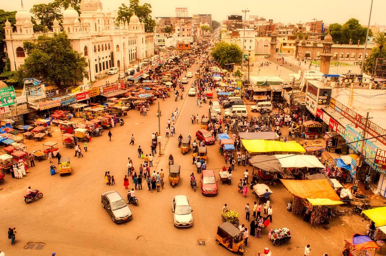 La ville d'Hyderabad en Inde