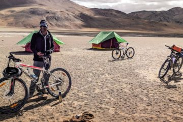 Tente pour cyclotouristes