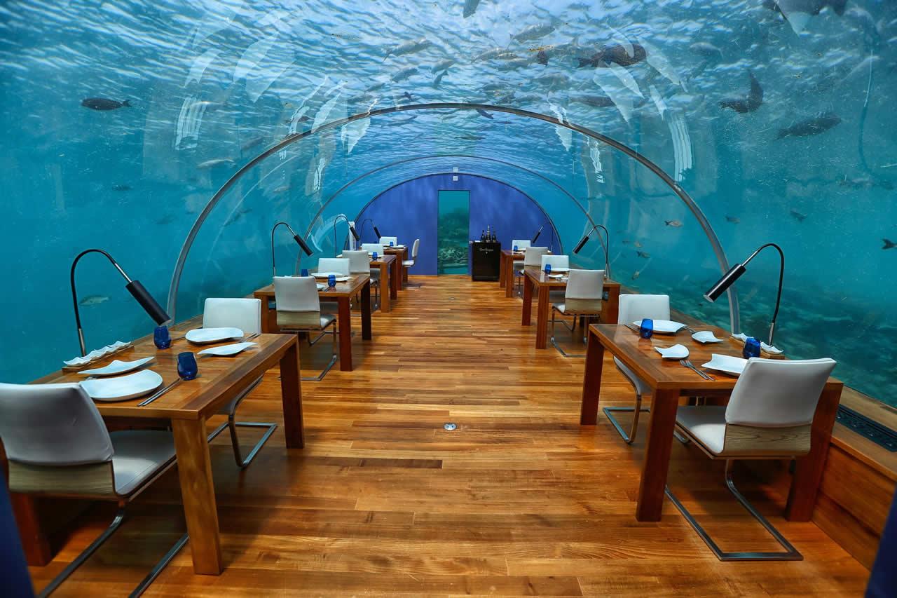 Restaurant sous-marin Maldives