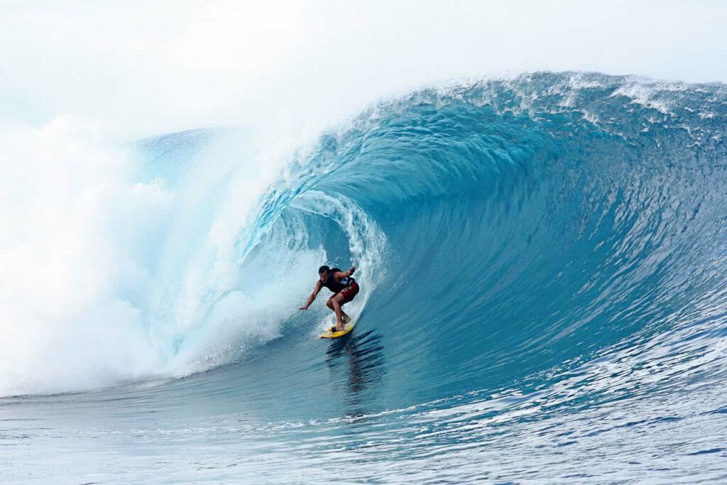 Tahiti vague surf